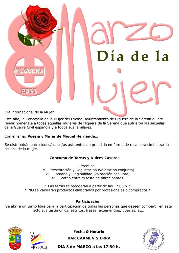 Programa para el Día de la Mujer 2011 en Higuera de la Serena   Pro ...